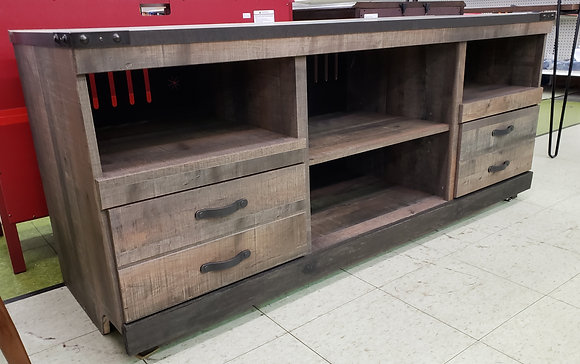 "Trinell 63"" TV Stand with Fireplace Option"
