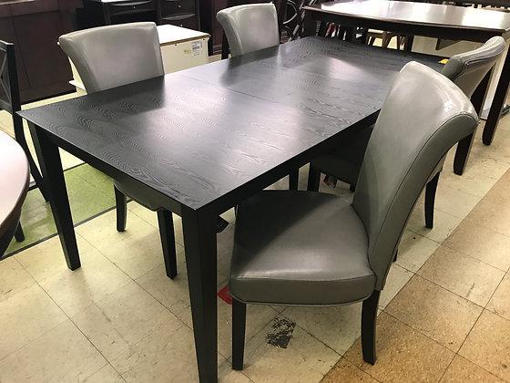 Gray & Black Dining Set