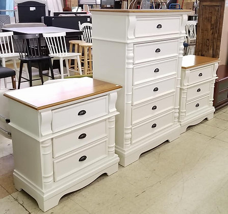 Oleta Chest and 2 Nightstands