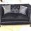 Thumbnail: Black Velvet Sofa