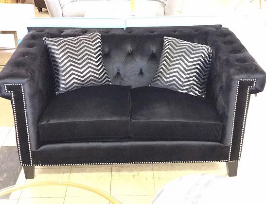 Black Velvet Sofa