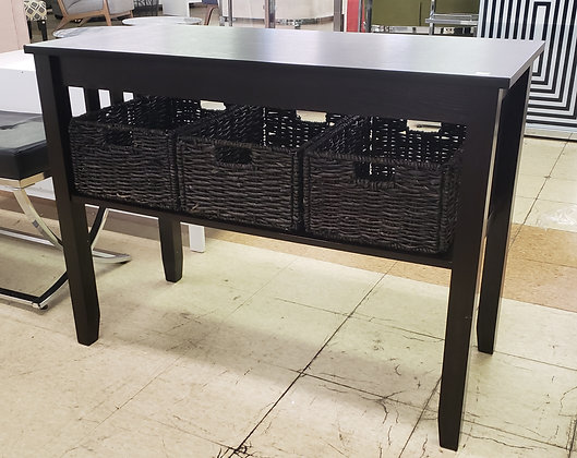 Morris Console Table with Baskets