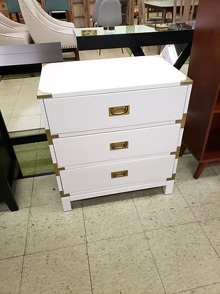 Borden Campaign 3 Drawer Nightstand