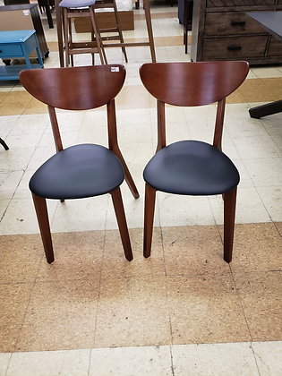 Sumner Mid Century Faux Leather Dining Chairs