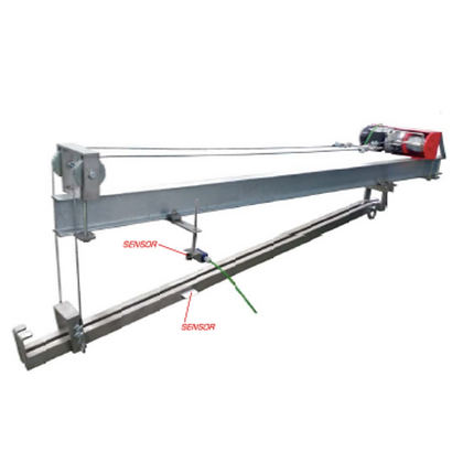 Hoist Operated Drop Arm Twin Track