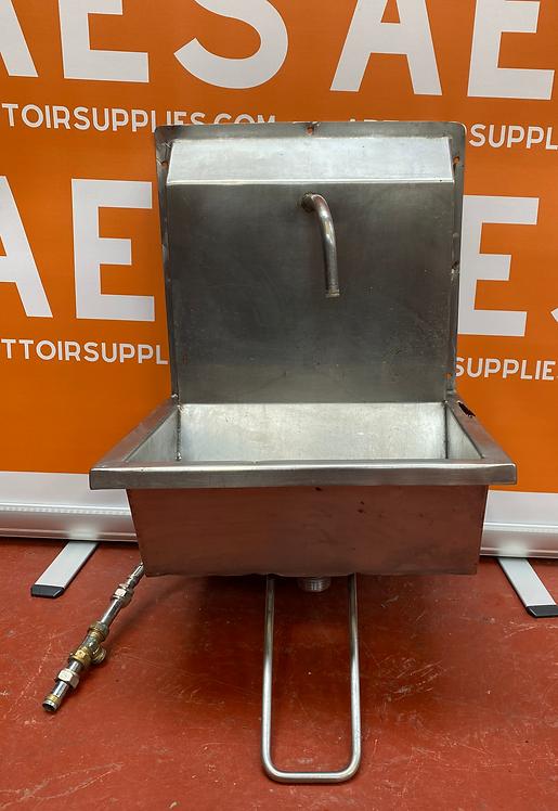 Single Knee Operated Sink - Stainless Steel
