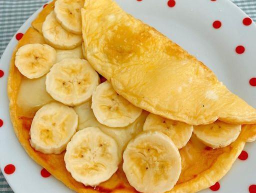 Crepioca com banana e queijo!!