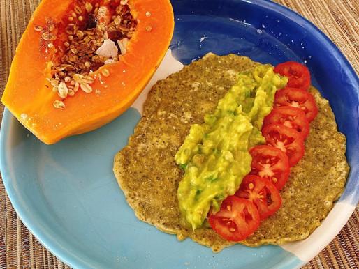 Café da manhã nutritivo e vegano