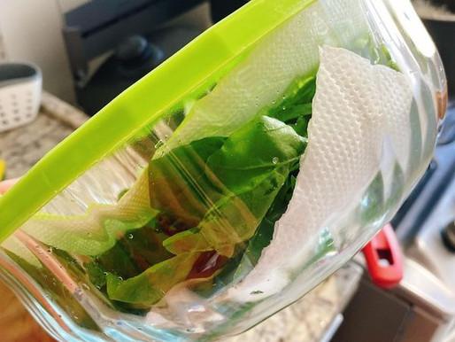 Dica: Como suas folhas podem durar mais na geladeira.