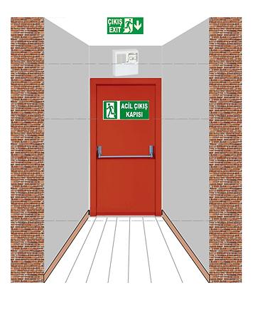 yangın kapılarının  için  otomatik  sesli ışıklı anons uyarı