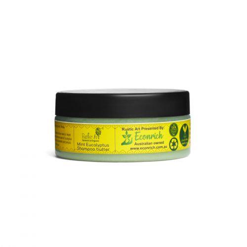 Rustic Art Mint Eucalyptus Shampoo Butter   Organic & Vegan