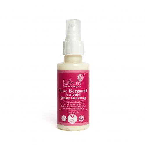 Rustic Art Rose Bergamot Skin Cream - Face & Body | Organic & Vegan