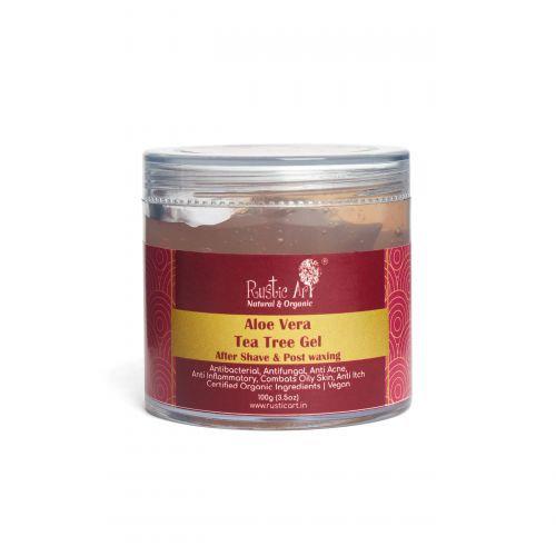 Rustic Art Aloe Vera Tea Tree Gel | Organic & Vegan