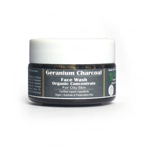 Rustic Art Geranium Charcoal Face Wash Concentrate | Organic & Vegan