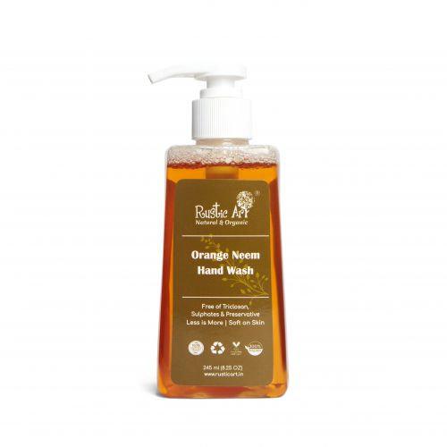 Rustic Art Organic Orange Neem Hand Wash (245ml)