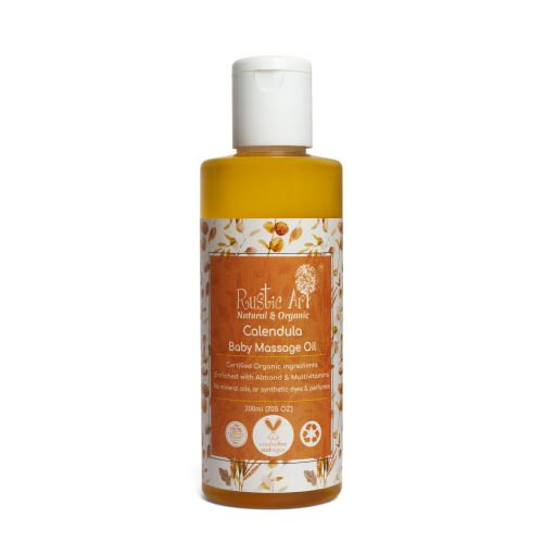 Rustic Art Calendula Baby Massage Oil | Organic & Vegan