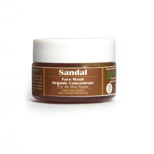 Rustic Art Sandal Face Wash Concentrate   Organic & Vegan