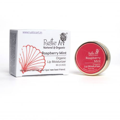 Rustic Art Raspberry Mint Lip Moisturizer   Organic & Vegan