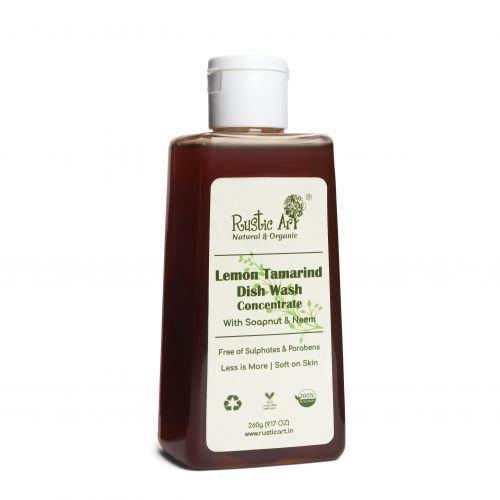 Rustic Art Lemon Tamarind Dish Wash Concentrate (260g)   Organic & Vegan