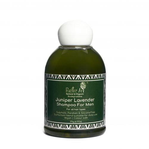 Rustic Art Juniper Lavender Shampoo For Men | Organic & Vegan