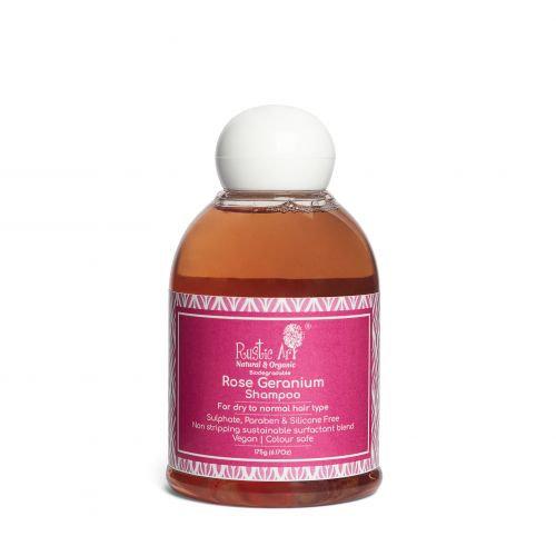 Rustic Art Rose Geranium Shampoo | Organic & Vegan