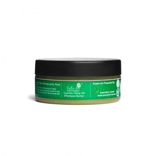 Rustic Art Cypress Hemp Oil Shampoo Butter | Organic & Vegan