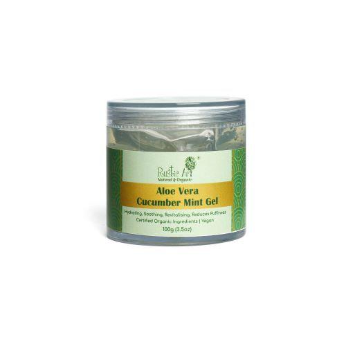 Rustic Art Aloe Vera Cucumber Mint Gel | Organic & Vegan