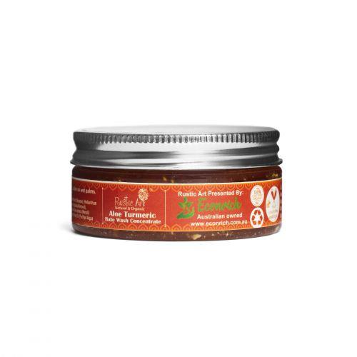 Rustic Art Aloe Turmeric Baby Wash Concentrate   Organic & Vegan