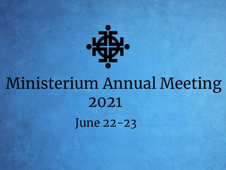 Our Ministerium Meeting Begins Today!