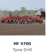 The Massey Ferguson Tyne Drill's ribbon-seeded bands and multiple fertiliser placement options offer small grain yields that other seeding systems can't match.