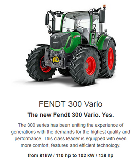 The 300er series has been uniting the experience of generations with the demands for the highest quality and performance. That is why we say: Yes. Because the Fendt 300 Vario offers everything that you need. See for yourself and say yes to the compact all-round tractor.