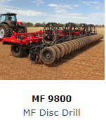 Extremely rugged with low maintenance requirements, MF9800 Series Single Disc Drills will are ideal for high trash applications and wet soils, achieving precise seeding with adjustable depth and consistent down pressure - increasing the efficiency and productivity of your seeding operation.