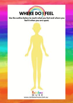 Where Do I Feel Worksheet Rainbow Muse
