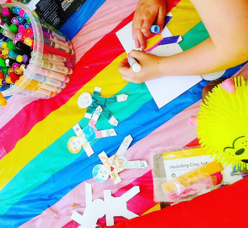 art therapy autism rainbow muse
