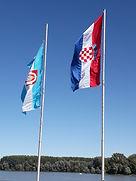 Vukovar drapeau croate et Slavon, balkan