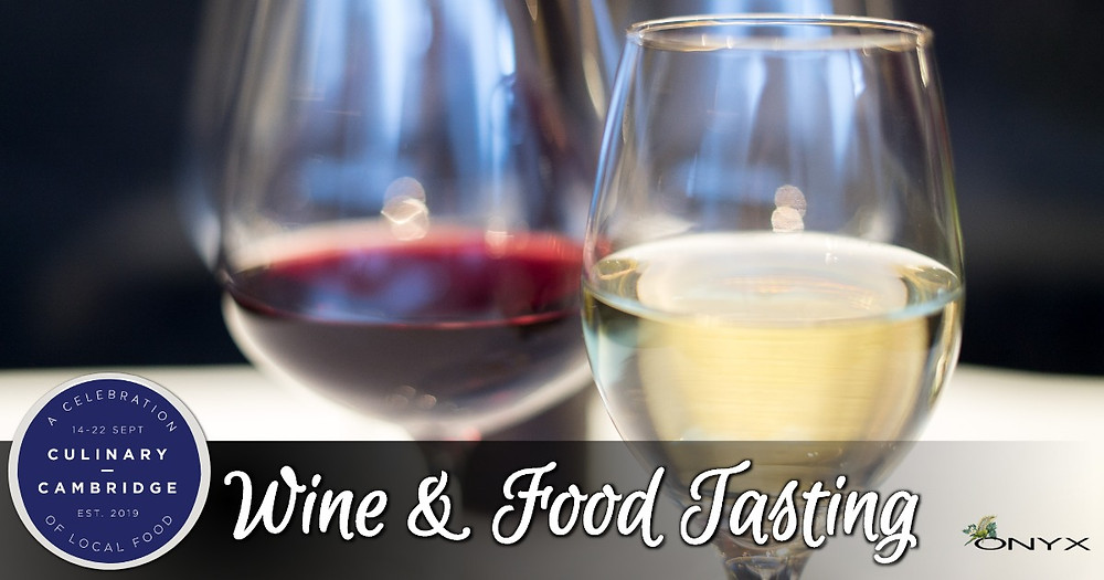Wine and food tasting for Culinary Cambridge