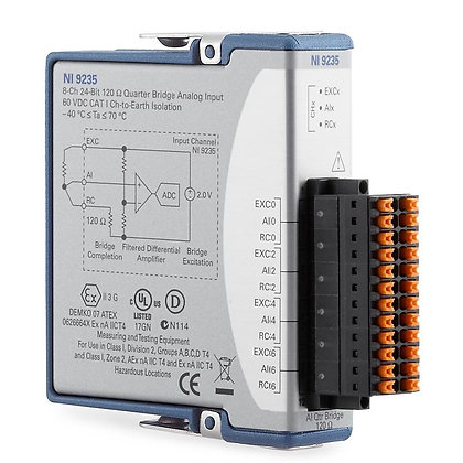 NI-9235, 8 ch, 120 ohm quarter bridge, 24-bit, 10 kS/s/ch