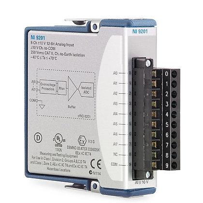 NI 9201 Screw Term, +/-10 V, 12-Bit, 500 kS/s, 8-Ch AI Module