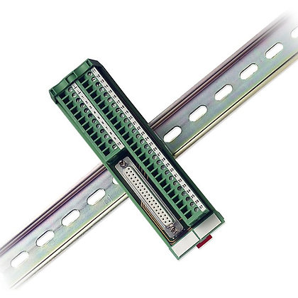37-Pin DSUB to Screw Terminal Block with Vertical DIN-Rail Mount