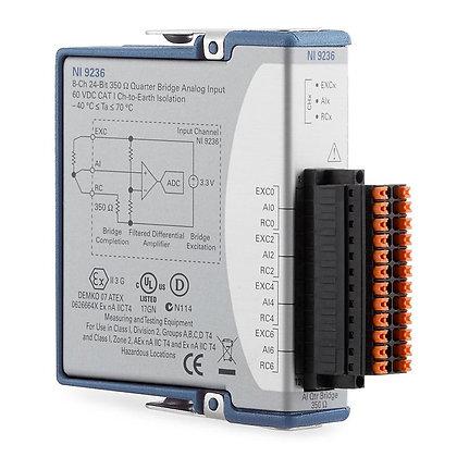 NI-9236, 8 ch, 350 ohm quarter bridge, 24-bit, 10 kS/s/ch