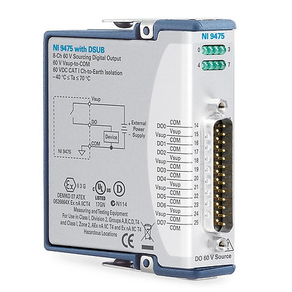 NI 9475 8-Ch 60 V, 1 us, High-Speed Sourcing Digital Output