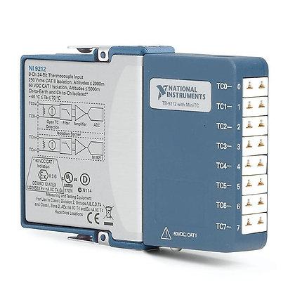 NI 9212 MiniTC, 8 Ch-Ch Isolated, 24-bit TC Input C Series Module