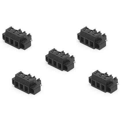 3-Position, Screw Terminal Connector Plug, 5.08mm Pitch (Qty 5)