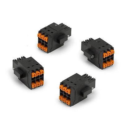 NI 9973 6-pos spring term connector block (qty 4)