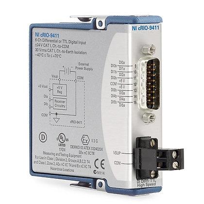 NI-9411 C Series Digital Module, Input, 6-Ch, �5-24 V, 1 MHz, Conformal Coated