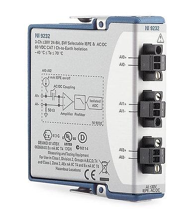 NI 9232 3-Ch +/-30V,102.4 kS/s,24 Bit IEPE Analog Input Module,CC