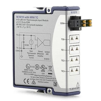 NI 9210 Mini TC,24-Bit,14 S/s/ch, 4-Ch,Thermocouple C Series Mod