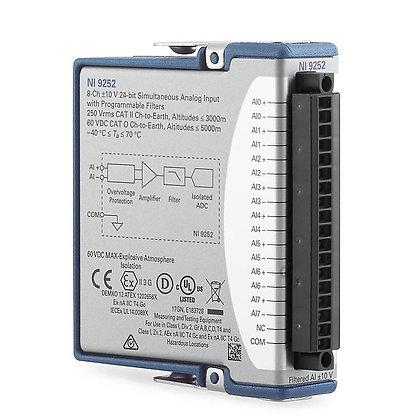 NI-9252, 8-CH, +/-10 V, 50kS/s/ch, 24-Bit filtered C Series Voltage Input Module
