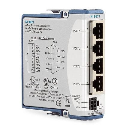 NI 9871, 4 Port RS 485/422 Serial Module, Conformal Coating