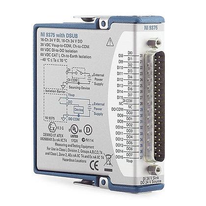 NI 9375 D-SUB, 16-ch DI, 16-ch DO, DI/DO C Series Module